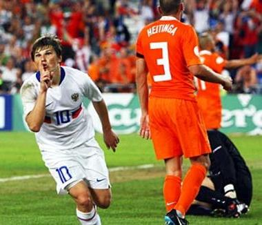 Russia v the Netherlands at Euro 2008