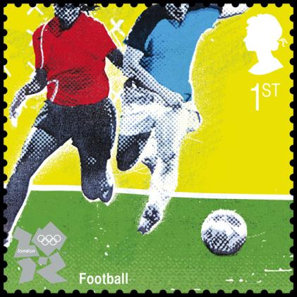 Royal Mail stamp issued for the 2012 Olympic Games Football Tournament