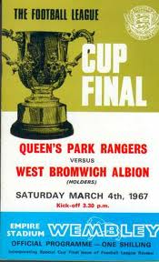 Match Programme from the first Wembley League Cup Final - Queens Park Rangers v West Bromwich Albion