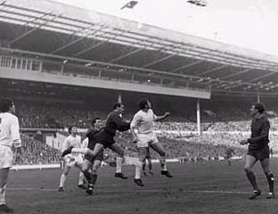 Queens Park Rangers on their way to beating West Bromwich Albion in the 1967 Final