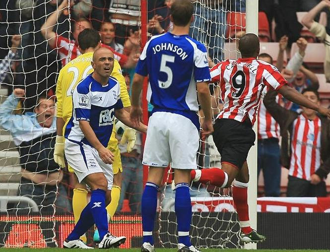 Action from Sunderland 2-2 Birmingham City, August 2010
